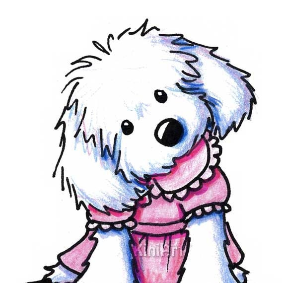 maltese dog clipart - photo #24