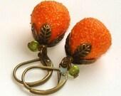Vintage Orange Earrings