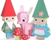 Fawn and Gnome Dolls Printable Paper Craft PDF