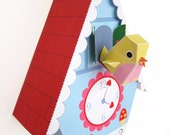 Cuckoo Clock, Bird House and Bird Cage Printable Paper Craft PDF