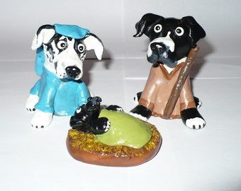 Dog Nativity Scene ,custom made, Christmas nativity scene, dog nativity set