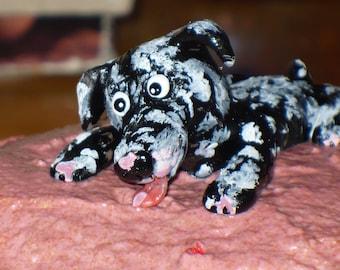Your Dog Custom Order Cake Topper Funny Dog Licking Cake
