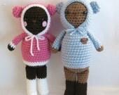 Sale - Amigurumi Crochet Wintertime Bears Pattern Set Digital Download
