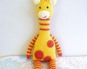 Amigurumi Pattern Knit Giraffe Digital Download