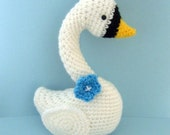 Sale - Amigurumi Crochet Swan Pattern Digital Download