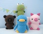 Amigurumi Knit Animal Friends Pattern Set Digital Download