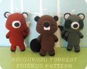 PDF Amigurumi Forrest Friends Crochet Pattern Set