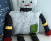 Knitted Robot Toy