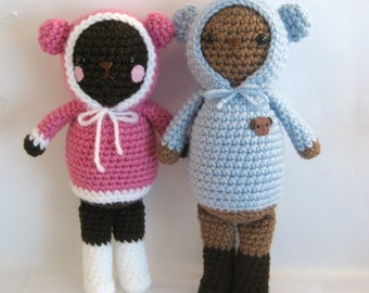 Sale - Amigurumi Crochet Wintertime Bears Pattern Set Digital Download
