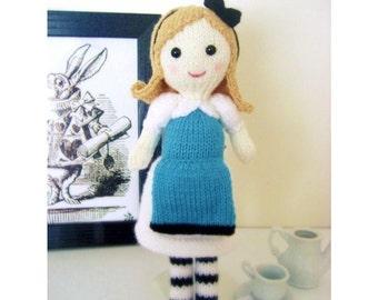 Amigurumi Knit Alice in Wonderland Pattern Digital Download