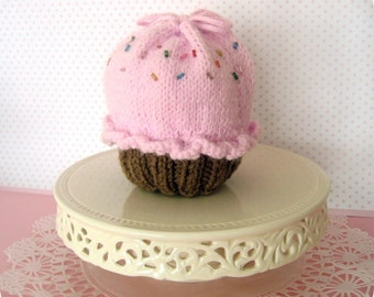 Amigurumi Knit Little Cupcake Purse Pattern Digital Download
