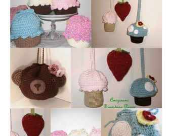All of my Crocheted Drawstring Purse Patterns Digital Download