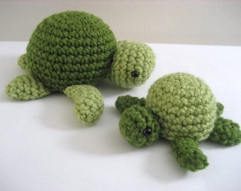 Amigurumi Pattern Crochet Sea Turtle Digital Download