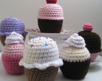 Amigurumi Crochet Cupcake Pattern Digital Download