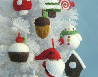 Amigurumi Patterns Knit Christmas Ornament Pattern Set Digital Download