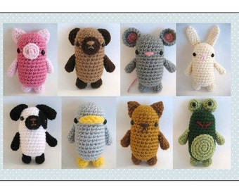 Amigurumi Crochet Little Critters Pattern Set Digital Download