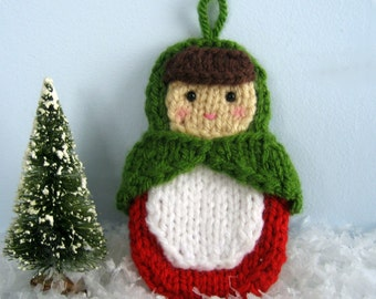Amigurumi Knit Matryoshka Doll Ornament Pattern Digital Download
