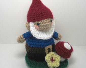 Sale - Amigurumi Crochet Garden Gnome Pattern Set Digital Download