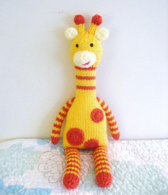 PDF- Knit Giraffe Pattern