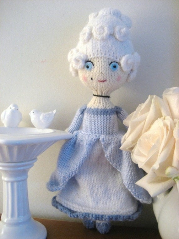 Amigurumi Knit Marie Antoinette Doll Pattern Digital Download