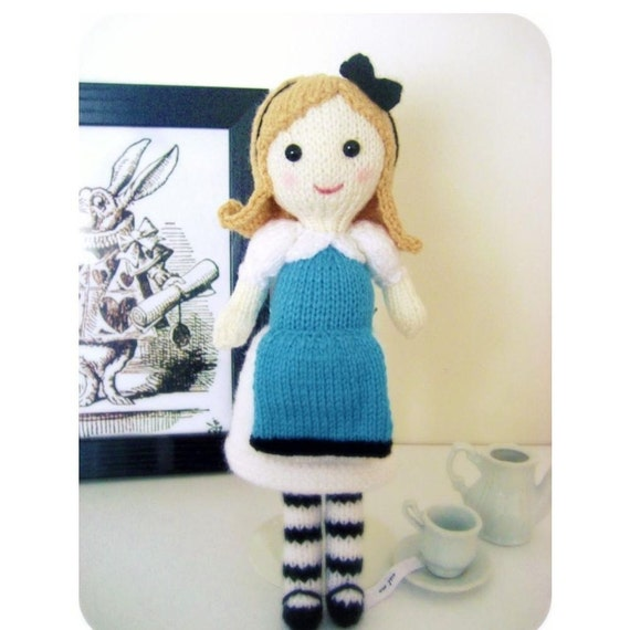 Amigurumi Knit Alice in Wonderland Pattern Digital Download