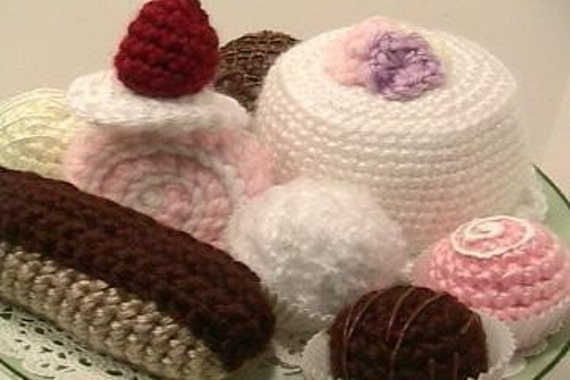 Sale - Amigurumi Crochet Sweets Pattern Set Digital Download
