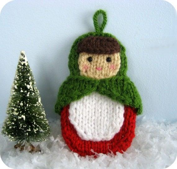 Knit Amigurumi Patterns : Amigurumi Knit Matryoshka Doll Ornament Pattern Digital