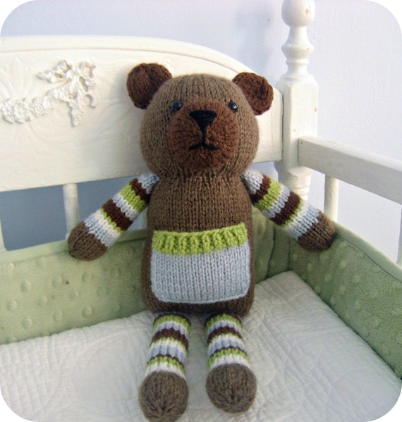 Amigurumi Knit Pocket Bear Pattern Digital Download