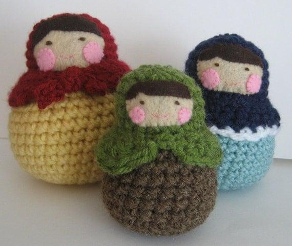 PDF-Amigurumi Matryoshka Roly-Poly Dolls Pattern- Crochet
