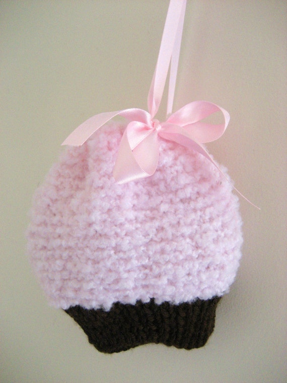 Cupcake Knitting Pattern Easy : Simple Knit PDF Cupcake Purse Pattern