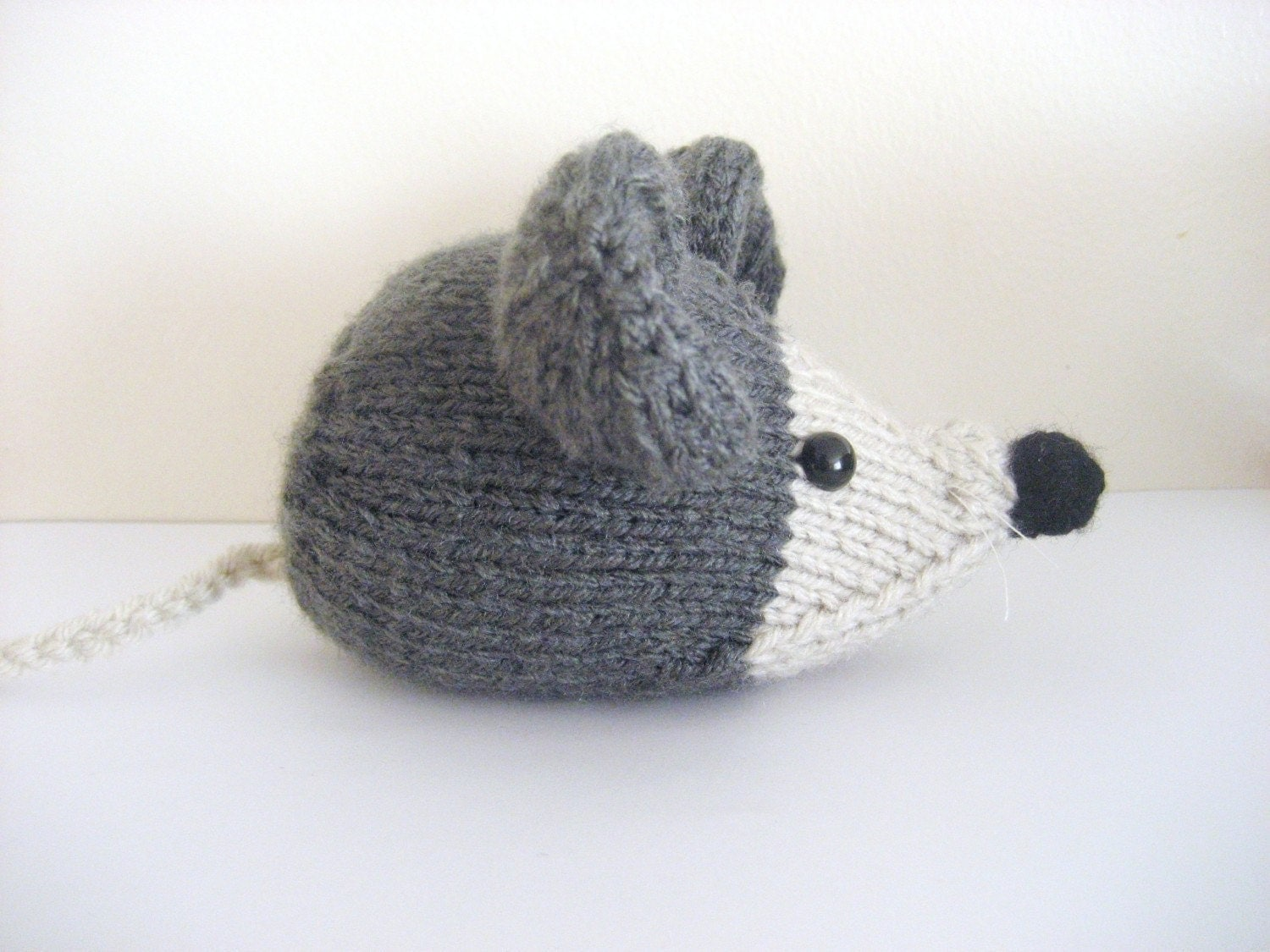 Amigurumi Wool : Amigurumi Knit Little Mouse Pattern Digital Download