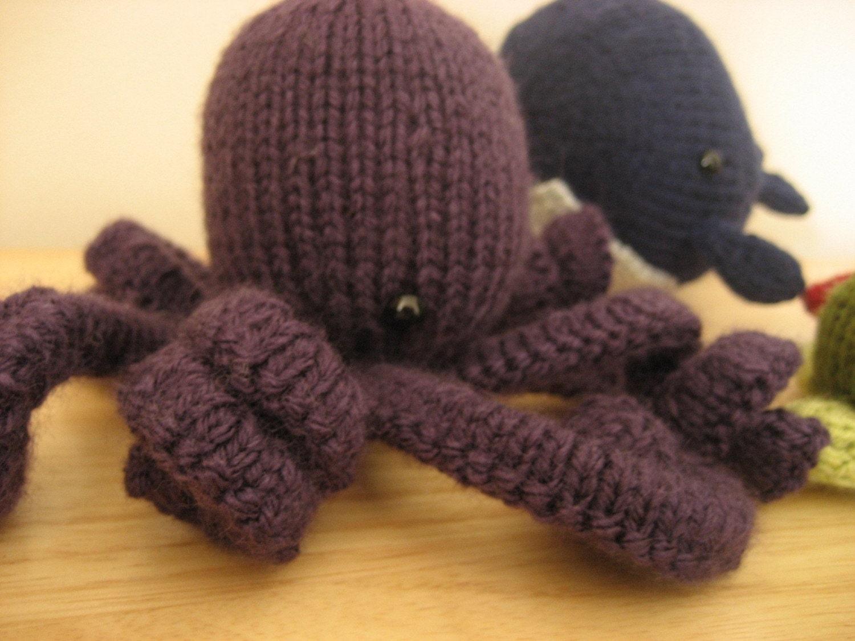 Knitted Amigurumi Sea Creatures : PDF Knit Amigurumi Sea Creatures pattern by Amy Gaines