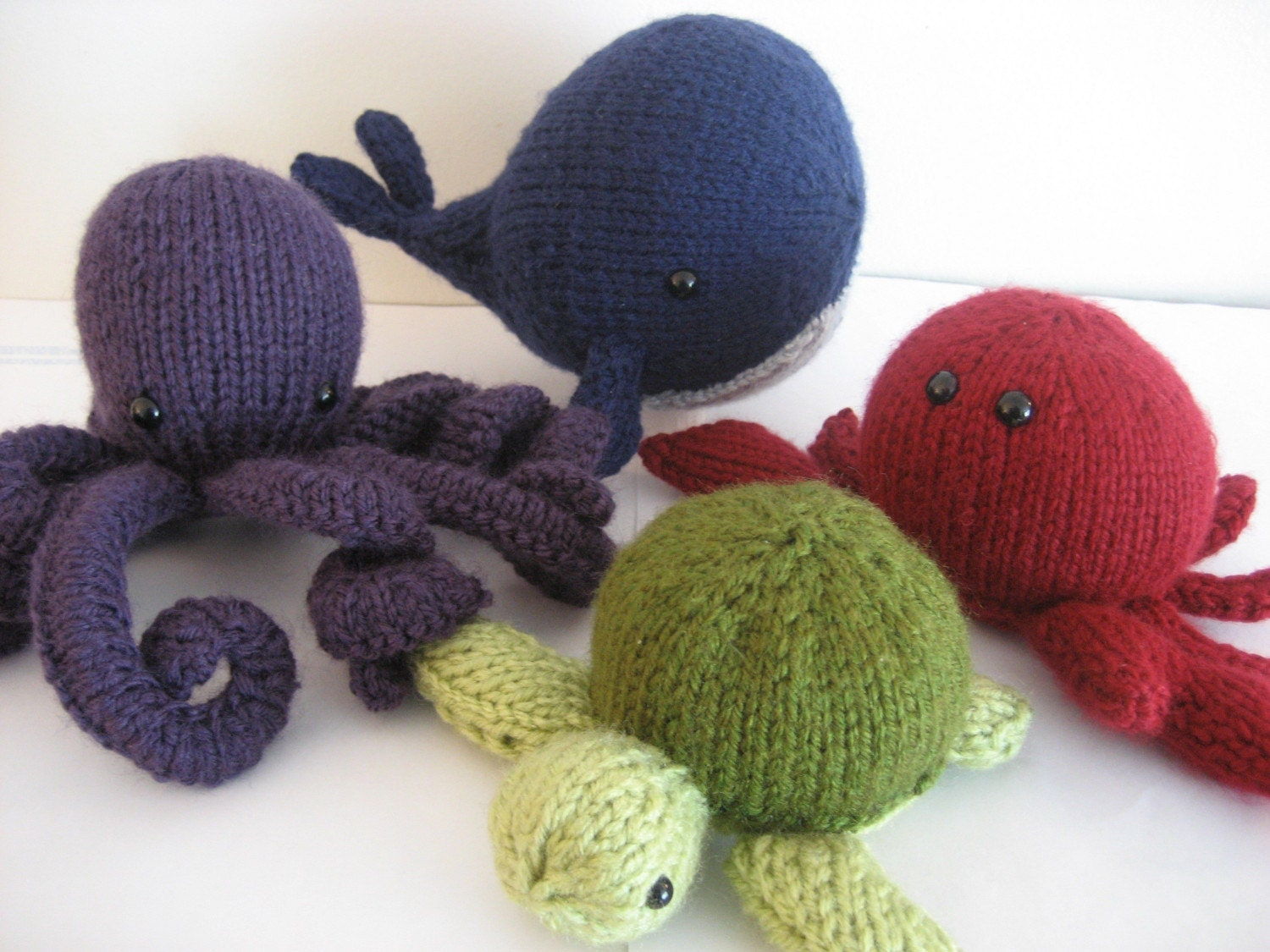 How To Knit Amigurumi For Beginners : PDF Knit Amigurumi Sea Creatures pattern by Amy Gaines