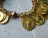 golden penny bracelet