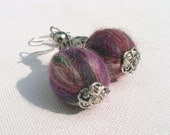 silver roving earrings