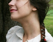 Leather Ponytail Holder - Put Your Hair into a Hunger Games Side Braid