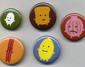 Mr Toast Button set