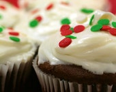Christmas Cupcakes Note Card