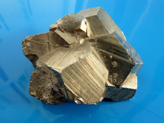 Fools Gold Raw Crystal Iron Pyrite Cluster Specimen