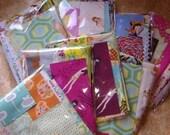 SALE. Buy 3 Get One FREE Starlit Nest Fabric Scrap Grab Bag.  Great Designer Fabrics.