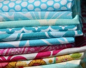 16 Fat Eighth Fabric Bundle. Designer Cotton Prints. GRAB BAG, See All Images For Examples.