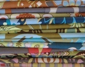 ONE POUND Amy Butler Scraps from Lotus and Belle Collections. Approx. 2.5 yards. Grab bag, no requests, mixed rectangles up to fat quarters.