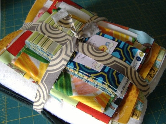 BABY QUILT KIT.  Gender Neutral Fabrics by Popular Designers. Grab Bag Bundle, No Two Quilts Are Identical.