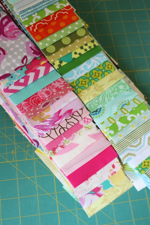 Sale. Grab Bag of 20 Three Inch Strips, Starlit Nest Jelly Roll. My Choice, Grab Bag of Designer Fabrics.