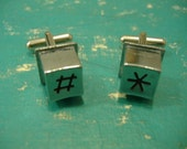 PAY PHONE CUFFLINKS Button Custom Any Number Unique Gift