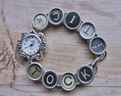 WATCH TYPEWRITER KEYS  Vintage Random Keys Antique Ooak Rare