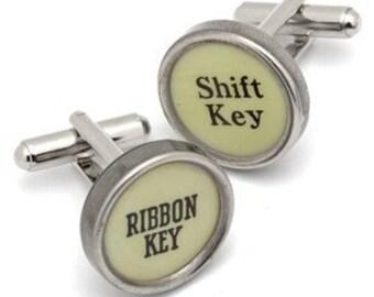 CUSTOM Vintage TYPEWRITER Key CUFFLINKS Initials Wedding Unique Gift