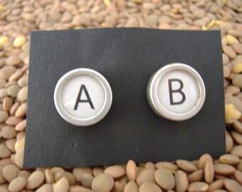 Custom Vintage TYPEWRITER Key CUFFLINKS Intials WEDDING Unique Gift