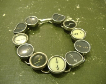 FRACTIONS NUMBER TYPEWRITER Key Bracelet New Design