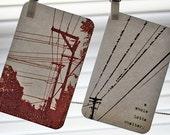 screenprinted postcards -- set of 4